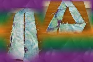 Tie Dye Triangle Fold